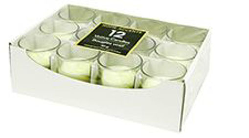 Picture of Candle Vot White Glass - No 076616