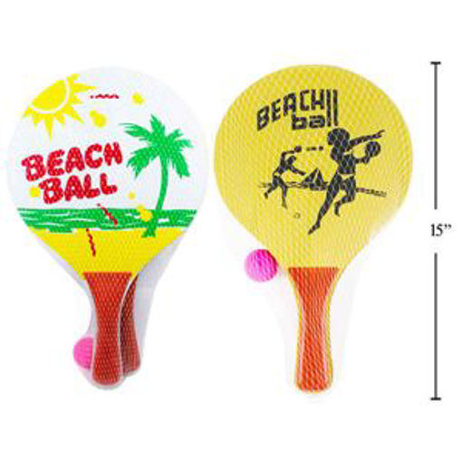 Picture of Beach Paddle Wooden 3Pcs - No 15436