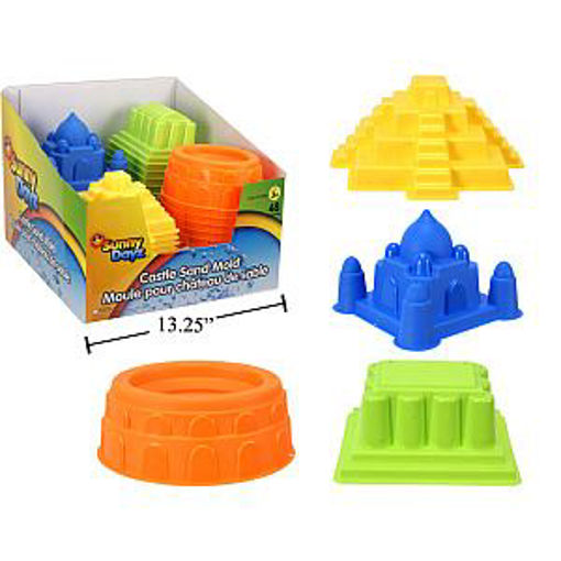 Picture of Sand Castle Moulds, 4Asst - No 15588