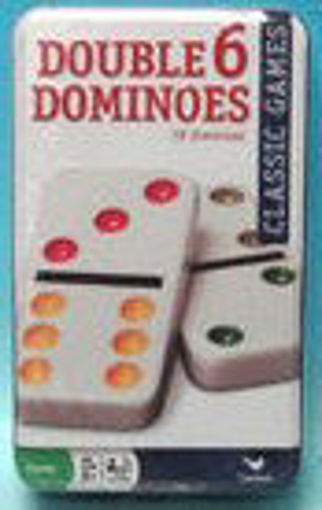 Picture of Dominoes Dbl 6 Color In Tin - No 82008
