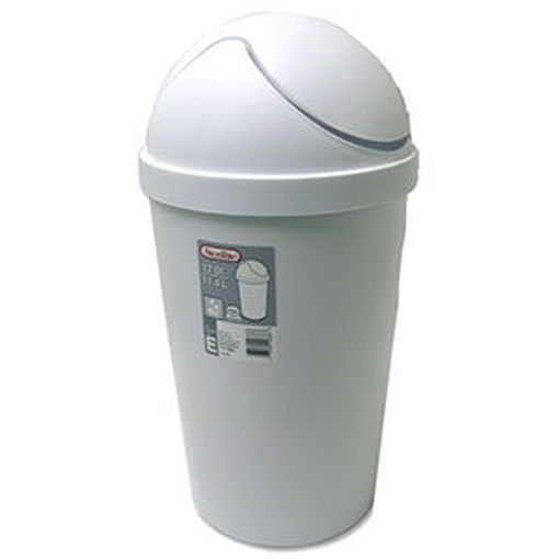 Picture of Wastebasket 12Qt Swing Top Wh - No 10838006