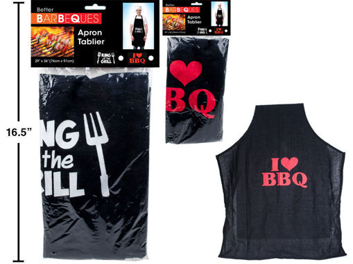 Picture of Bbq Novelty Apron, 29X36 - No 91384