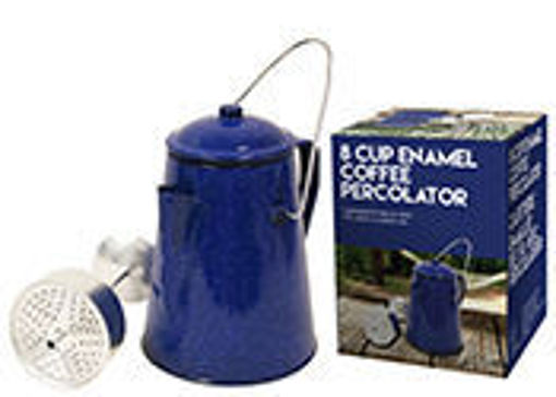 Picture of Blue Coffee Pot Enamel 8 Cup - No 077978