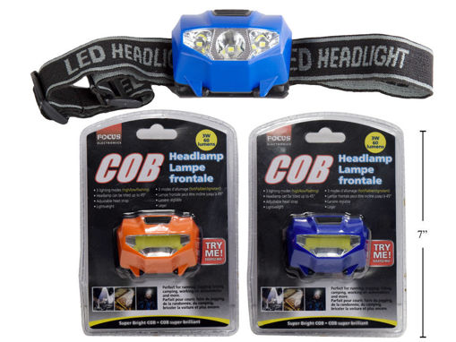Picture of Cob Headlamp,60 Lumens 2C, Battery Incl. - No 86130