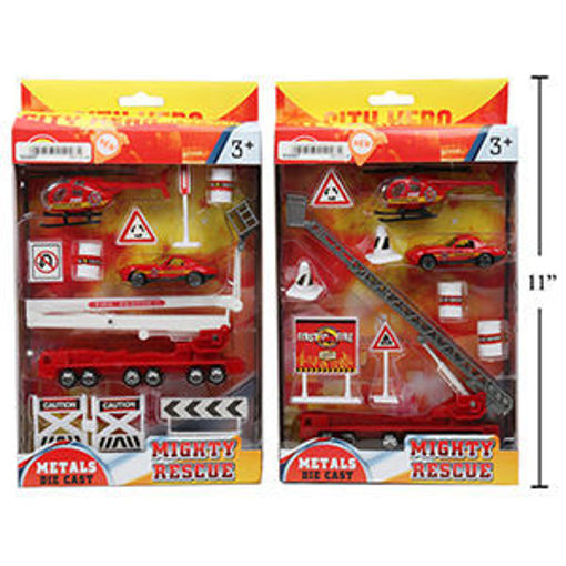 Picture of Fire Engine Playset 10-Pc - No 01047