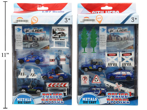 Picture of Police Playset, 2 Styles, 10 Pc - No 01049