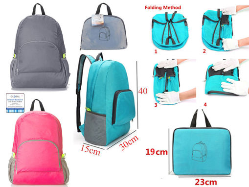 Picture of Foldable Backpack,3 Colors - No 89581