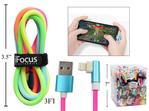 Picture of 3Ft.Lightning Rainbow Cable - No 86098