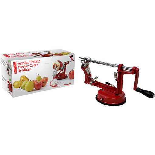 Picture of Apple Peeler + Slicer Red - No 076497