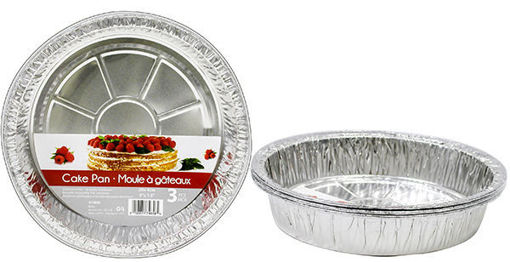 Picture of Foil Cake Pan Rnd 3Pk 21in - No 074658