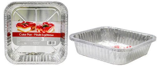 Picture of Foil Cake Pan Sq 20X20 3Pk - No 074652