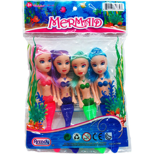 Picture of Doll Mermaid 5.5In 4Pc - No ARG60818