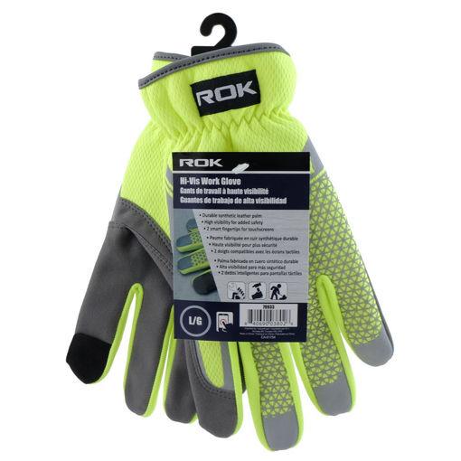 Picture of Glove Work Hi-Vis Large - No 70933