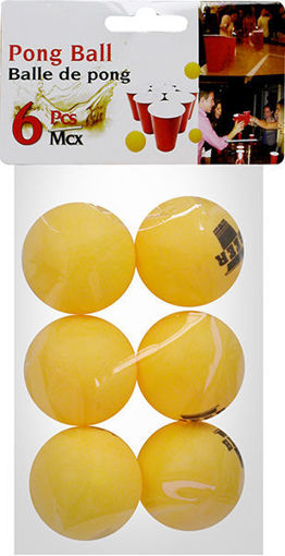 Picture of Beer Pong Balls 6Pcs - No 076495
