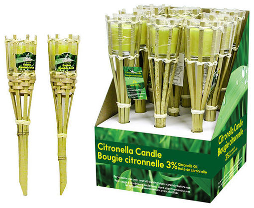 Picture of Candle Citronella Torch 12In - No 077569