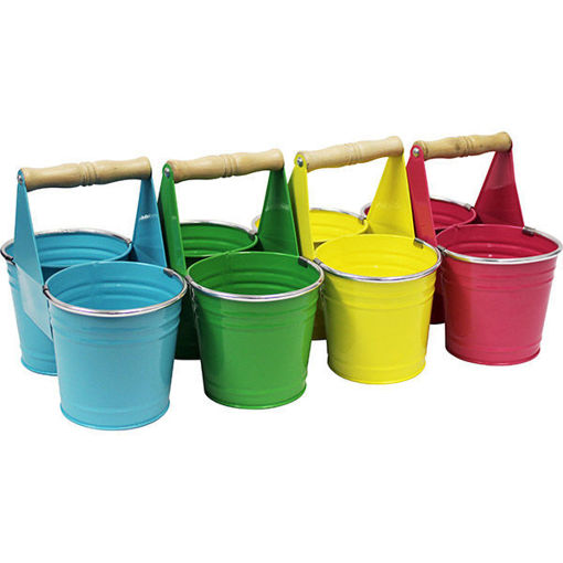 Picture of Metal Flower Pot Duo With Handles - No 078453
