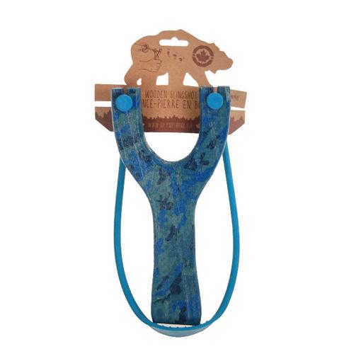 Picture of Slingshot Wood Blue Camo - No 30652PKA
