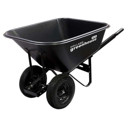 Picture of Wheelbarrow 10Cf Poly 2 Tires - No W000445N